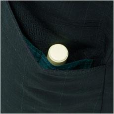 ポケット内にはハンコ&リップポケット付き。