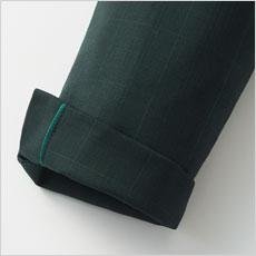 ベント仕様の袖口は折り返しが可能。
