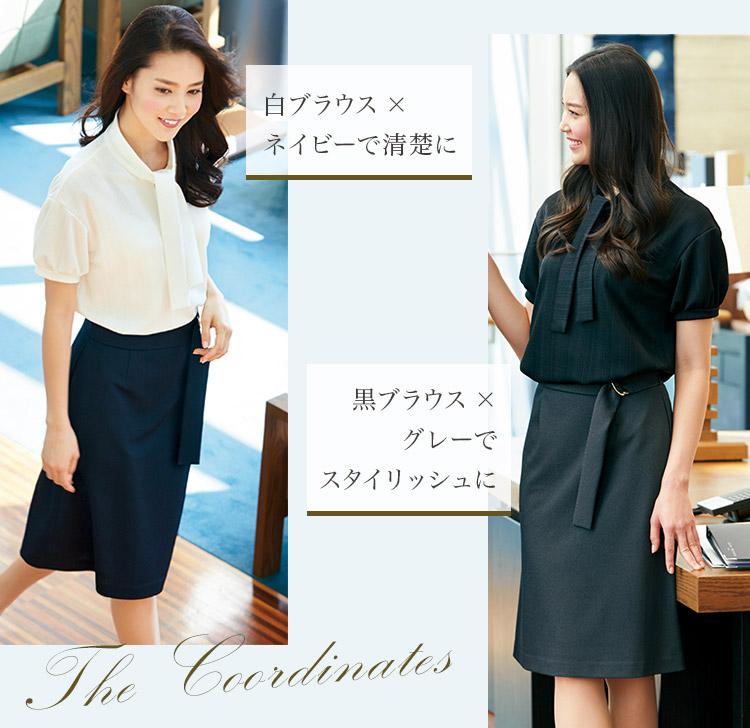 Aラインスカート[ベルト付](22-YT3308) メイン画像�