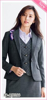 着心地が良い事務服 ジャケット[ストレッチ/抗菌防臭](34-AJ0266)