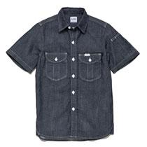 アメリカンでかっこいい半袖ワークシャツ。ボンマックス Lee LWS43002