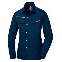 オールシーズン対応のすっきりフィットなシャツ。ジーベック1695