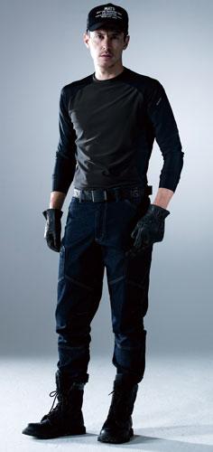 リラックススタイルで着られる長袖コンプレッションウェア。TS DESIGN 84152