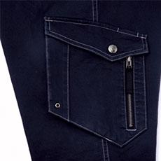右カーゴ二重ポケット