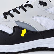 自重堂安全靴 s1181 サイド部分反射材使用