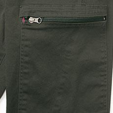 左カーゴポケットは横ファスナー仕様。