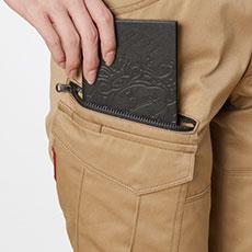 長財布・野帳(レベルブック)収納ポケット(右・深さ23cm)