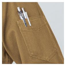 袖ポケット・マジックテープ付き(左)
