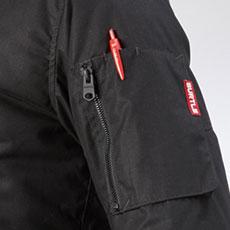 左袖ファスナーポケット(ペン差し付き)