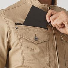 野帳(レベルブック)収納ポケット(右・深さ21cm)