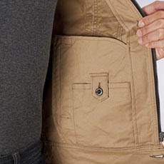 内ポケット(左・ボタン止め)