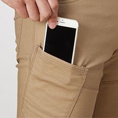 スマートフォン収納ポケット(右)