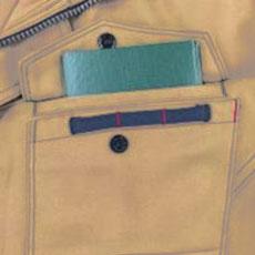 野帳ダブル収納ポケット(左・深さ20.0cm)