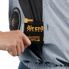 右脇バッテリー収納ポケット(ボタン止め)※特許取得済