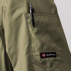 左袖ペンポケット