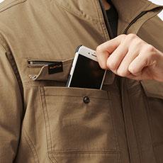 スマートフォン収納ループ(右)