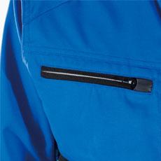 野帳が入る大きさの大容量ファスナーポケット