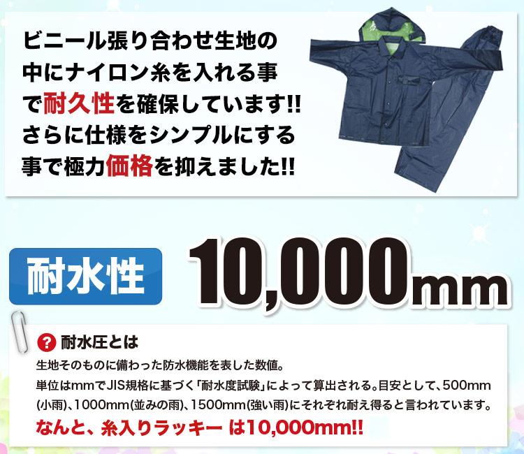 耐水圧10000ミリ