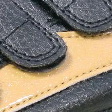 喜多安全靴 ブラックカラーのラメ入りアップ