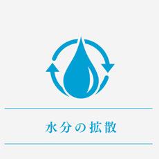 水分を全体に拡散させる