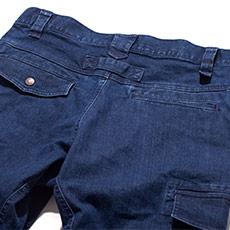 両後ポケット(左フラップ付き)