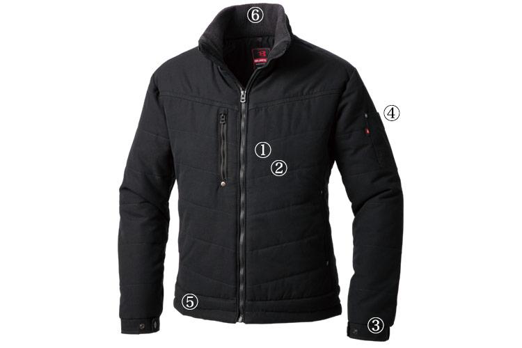 バートル ヌバックタッサー防寒ジャケット 5230の商品詳細メイン画像
