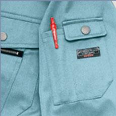 左袖ペンさしポケット