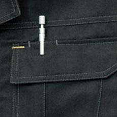 ペン差し付き胸ポケット