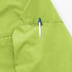 袖ペン差しポケット