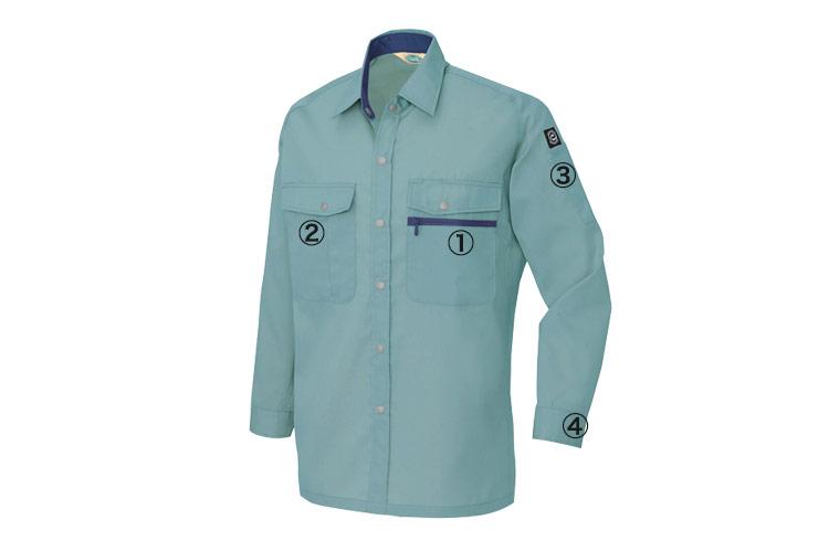エコT/Cライトツイル 長袖シャツ 5375 商品詳細