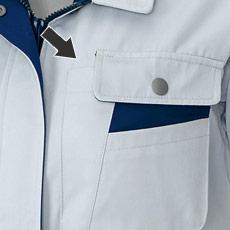 ペン差し付き左胸ポケット
