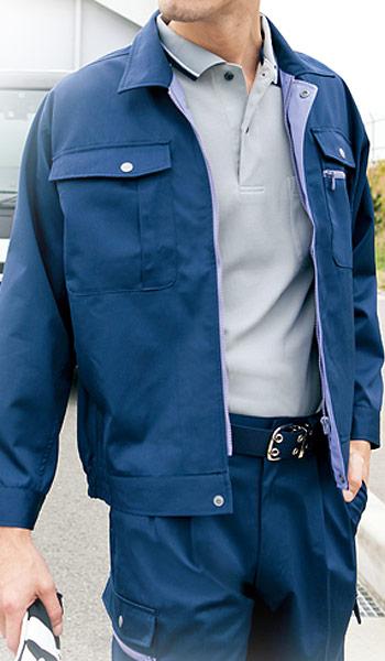 エコT/Cツイル 長袖ブルゾン 6380
