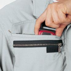 ファスナー付きサブポケット