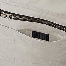 左胸二重ポケット