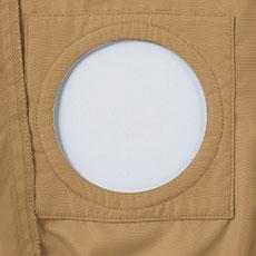 空調服のファン取り付け部分