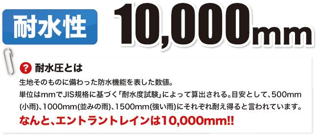 耐水性10000ミリ